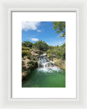 Load image into Gallery viewer, Waterfall In The Ruidera Lagoon, Castilla La Mancha - Framed Print