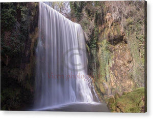 Waterfall In The Monasterio De Piedra Of Aragon - Acrylic Print 10.000 X 6.625 / Hanging Wire