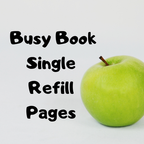 Single Refill Pages for your Busy book, double sided, Little Lennons busy books, learning binder, refillable binder, quiet book, premade
