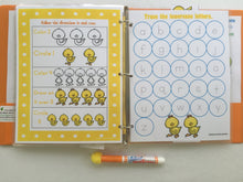 Duck Preschool Dry Erase  Activity Book, Personalized Busy Book, Quiet Book, Busy Bags