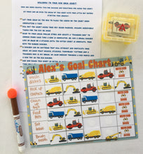 Dry Erase Construction Truck Goal Chart, personalized, blank, FULLY ASSEMBLED, chore chart, Reward Chart, behavioral chart, potty chart