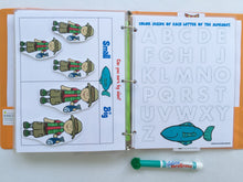 Fishing Toddler Dry Erase  Activity Book, Personalized Busy Book, Quiet Book, Busy Bags, Educational Toy, age 2-4, travel games, gift