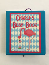 Flamingo Busy Book, Quiet Book, Personalized Dry Erase activity book, travel games, unique gift for girls, flamingo party, big sister, kids