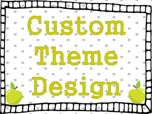 New Little Lennons theme, custom theme request, new graphics needed for Little Lennons product, new theme, design fee, hook and loop