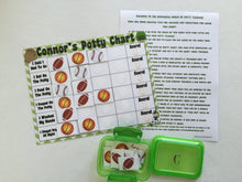 Sports Potty Chart*personalized*FULLY ASSEMBLED*toilet training*Reward Chart*sticker chart*potty chart*30 reusable stickers*laminated*custom