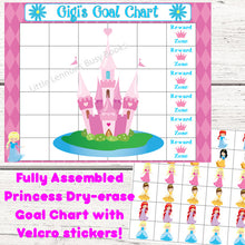 Dry Erase Princess Goal Chart, personalized, blank, FULLY ASSEMBLED, chore chart, Reward Chart, behavioral chart, goal chart, reward system