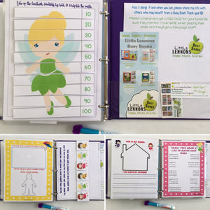 Fairy Dry Erase  Busy Book/Quiet Book, Personalized, Preschool, name tracing, unique gift, travel games, alphabet, fairy gift, kids