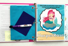 Mermaid Dry Erase Activity Book/ Busy Book/ Quiet Book/  Book/ Educational Toy/ Custom Made/ Unique Gift for Children/ Toddler/ 5pgs