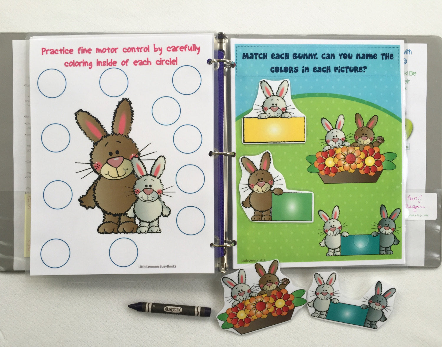 Bunny rabbit Dry Erase Busy Book – Little Lennons LLC