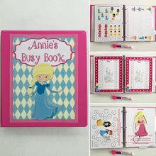 PreK Princess Busy Book, Quiet Book, Dry-erase  Activity Book, Travel Games, Educational toy, Teacher made, Personalized, age 3-5, hands on