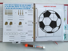 Sports Group/Family Busy Book/Quiet Book/Customized/family gift/Educational Toy/Travel games/preschool/family games/in home daycare/soccer