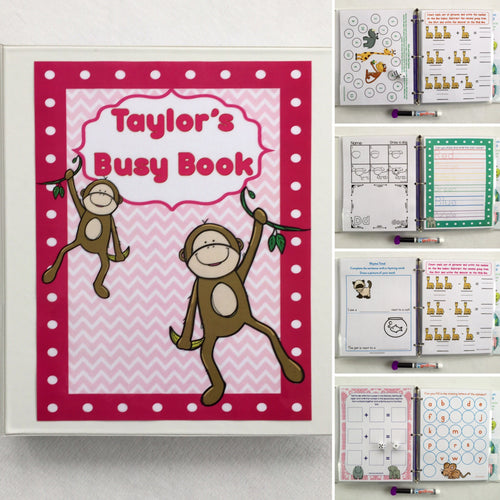 Kindergarten dry erase  activity book, quiet book, busy book, reusable, refillable book, travel toys, summer vacation, learning age 5