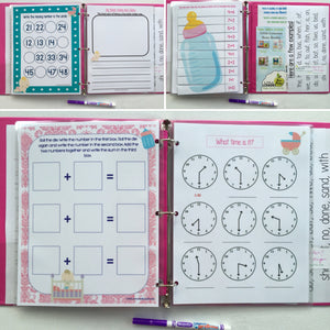 Kindergarten Big Sister Dry Erase Activity Book/ Busy Book/ Quiet Book/  Book/ Educational Toy/ Custom Made/ Unique Gift for Children