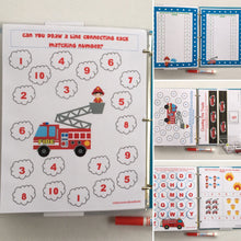 Preschool Fire Rescue personalized Busy Book/Quiet Book, dry-erase  activity book, travel games, busy bag, educational, gift for boy