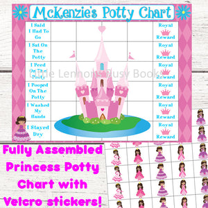 African American Princess Potty Chart, Potty training chart, Positive rewards, personalized potty chart, , laminated, toilet training