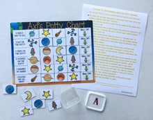 Blast Off Potty Chart, Potty training, Outer Space, Solar system, planets, reward chart, personalized, , laminated, toilet training