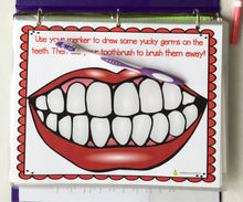 Brush my teeth laminated mat, dental health, hygiene, fine motor toy, dry erase, diy busy book, quiet book, toothbrush, travel activity