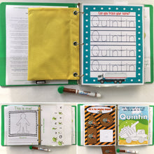 Emergency/Army/Service Personalized Busy Book, Dry Erase, activity book, laminated, preschool, interactive binder, hook and loop