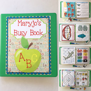 PreK Group Classroom Family Busy Book Quiet Dry Erase Activity