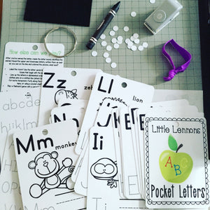 Dry erase alphabet clip cards, flash cards, laminated, trace, write, beginning sounds, letters, animals, key ring, coloring, busy bag