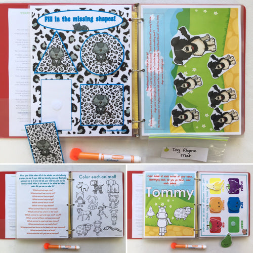 Group, Family Busy Book, Quiet Book, Custom by ages, farm animals, activities, Educational Toy, Travel games, busy bag, family game, binder