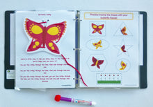 Butterfly Dry Erase Busy Book, Quiet Book,  Activity Book, Preschool, Educational toy, Personalized, binder, learning book, hands on, gift