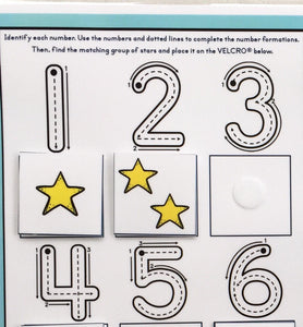 Number Formation, Counting Page, Learn to Write Numbers, Number recognition, teacher resource, busy book, laminated, dry erase, preschool