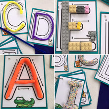 Lowercase Little Letters, Dry erase, alphabet, clip cards, flash cards, laminated, trace, letter formations, key ring, learn to write, kids