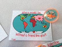 Printable World Map Valentine, Compass, Magnifying Glass, Preschool