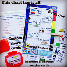 Superhero Morning Bedtime Chore Behavior Chart, routine chart, personalized, laminated chart, chore chart, premade chart, custom, sticker
