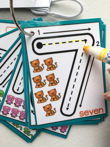 PDF digital download Little Numbers, Dry erase, counting, clip cards