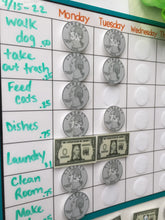Weekly Allowance Chart, dry erase, task chart, sticker chart, chore chart, blank, write on, kids, reward chart, laminated, goal chart, earn