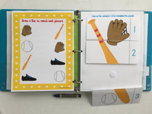 Sports Toddler Dry Erase  Activity Book, Personalized Busy Book, Quiet Book, Busy Bags, Educational Toy, age 1-4 years, travel games