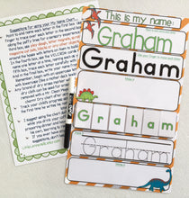 My Name Mat, learn to write name, spell name, trace name, preschool, toddler, prek, educational toy, dry erase, laminated, name puzzle, gift
