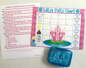 Princess Picture Code Potty Chart, Potty training, Positive rewards, personalized, toilet training, assembled, directions, laminated,