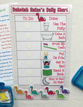 Morning/Bedtime Dinosaur Task Chart, visual chart, laminated, routine