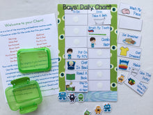 Monster Bedtime Task Chart, visual chart, laminated, routine chart