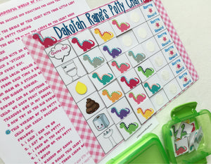 Dinosaur Picture Code Potty Chart, Potty training, Positive rewards, personalized
