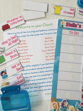 Mermaid Morning, Bedtime, Chore Chart, routine chart