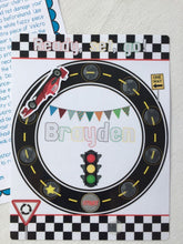 Race Car Behavioral Chart, personalized, reward chart, sticker chart