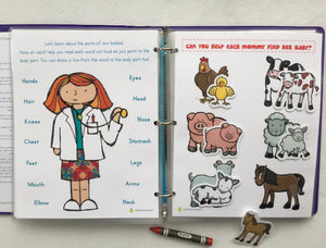 Boho Tribal Animal Busy Book, Quiet Book, Activity Book, Learning Binder