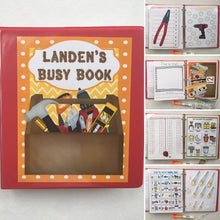 PreK Tools-Themed Reusable Custom Busy Book with Dry Erase and Hands On Learning Pages