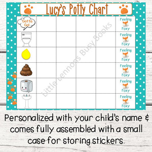 Personalized Fox Picture Code Potty Chart for potty training
