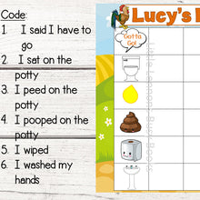 Personalized Farm Picture Code Potty Chart for potty training