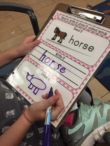 Read it, write it, draw it Animal busy book page, learning mat for preschool