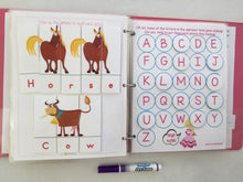 Horse Themed Custom Dry Erase Activity Book, Personalized, Busy Book, Quiet Book