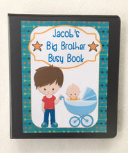 Big brother Busy Book, quiet book, homeschool, hands on
