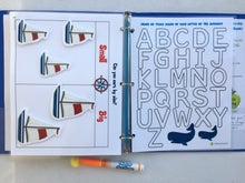 Sailboat Themed Busy Book, activity binder, toddler, preschool