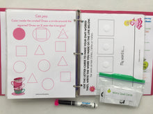 Tea Party Themed Custom Dry Erase Activity Book, Personalized, Busy Book, Quiet Book