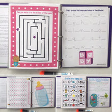 Big Sister Busy Book, quiet book, dry erase activity book, toddler